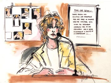 Mona Shafer Edwards, Sketching Celebrity Trials : NPR
